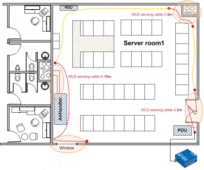 Water-Leak-in-ServerRoom-FloorPlan